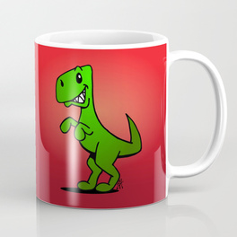 Coffee mug with dinosaur