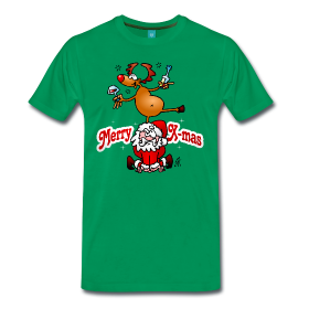 Santa and his reindeer T-shirt