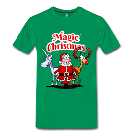 Magic Christmas with a unicorn T-shirt
