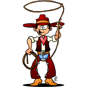 Cowboy with a lasso T-Shirt design