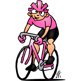 Cyclist in the pink jersey II fc
