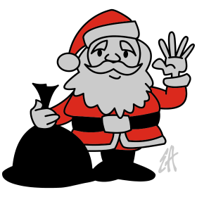 Santa Claus waving tc
