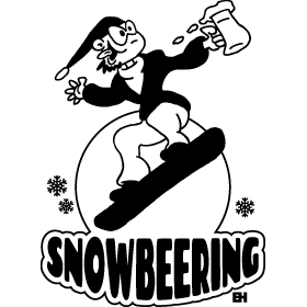 Snowbeering or snowboarding mc